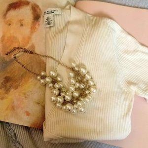 Banana Republic Silk Cashmere wrap knit top